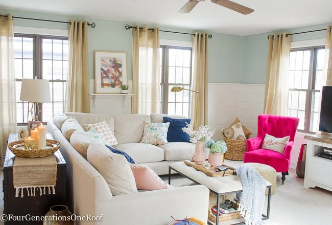 Best Blue Pink Living Room Decorating Ideas Four This Month