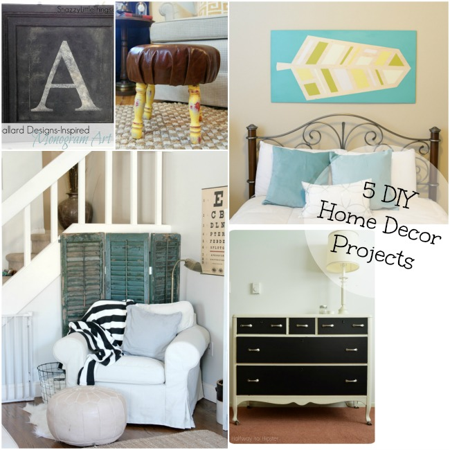 Best 5 Diy Home Decor Projects And The Project Stash This Month