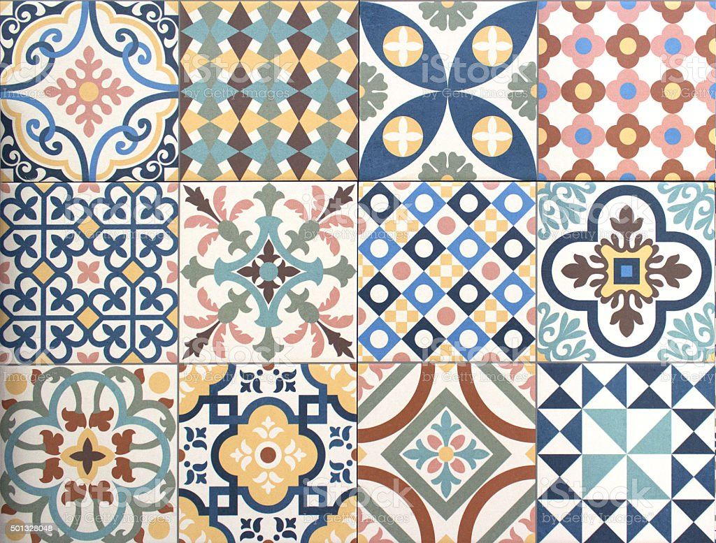 Best Colorful Decorative Tile Pattern Patchwork Design Stock This Month
