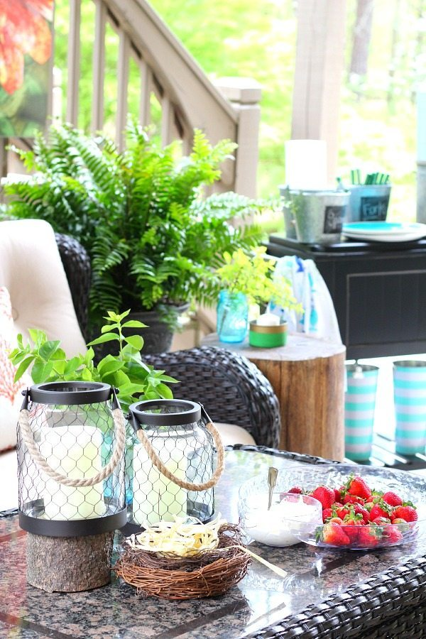 Best Coral And Aqua Patio Decor And A Recipe Refresh Restyle This Month
