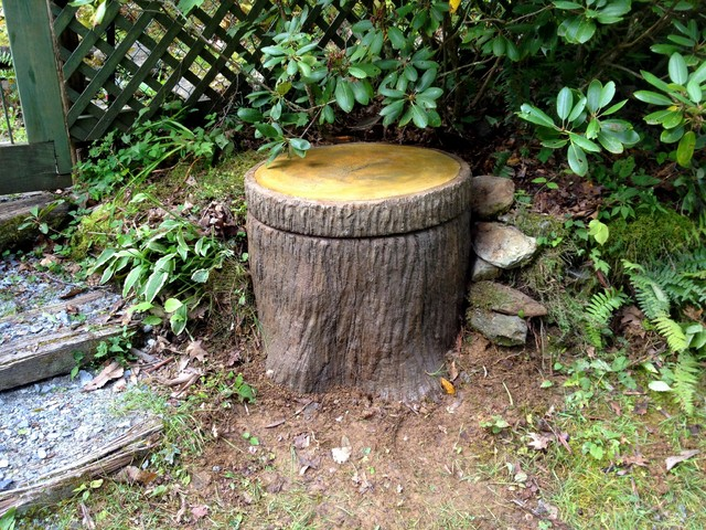 Best Boone Tree Stump Well Pump Cover Rustic Garden This Month