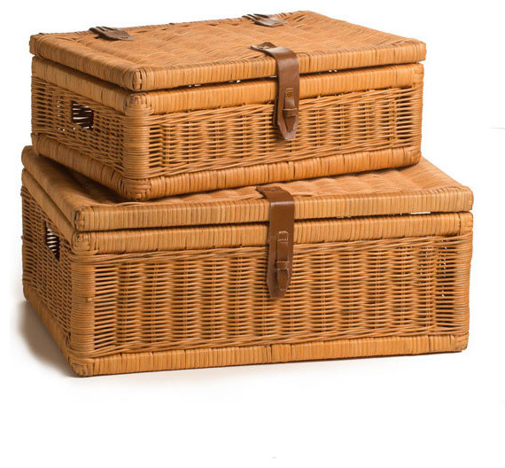 Best Covered Wicker Storage Basket Decorative Boxes By The This Month
