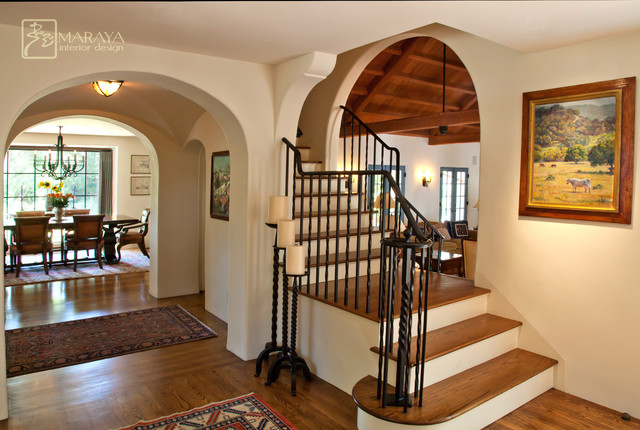 Best Old California Mission Style Staircase Foyer This Month