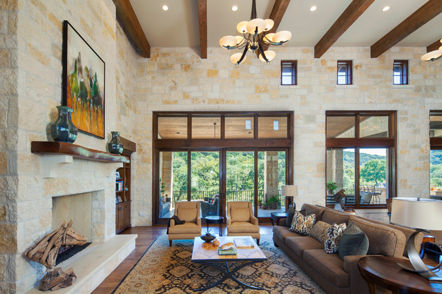 Best Hill Country Custom Home Rustic Living Room Austin This Month