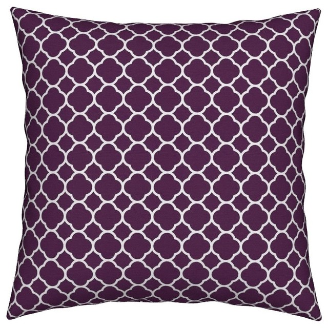 Best Preppy Modern Geometric Quatrefoil Pattern Throw Pillow This Month