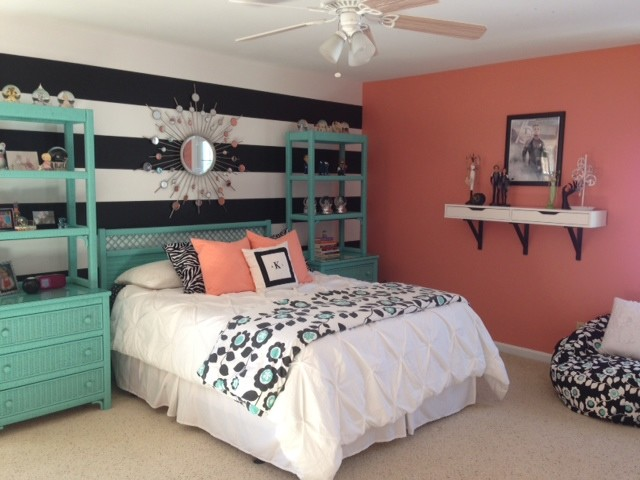 Best Girl S Teal Coral Bedroom This Month