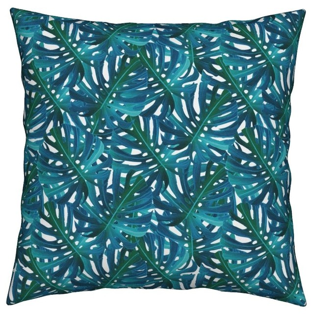 Best Palm Leaf Tropical Preppy Botanical Jungle Throw Pillow This Month