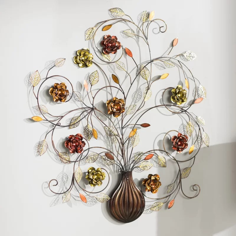 Best Alcott Hill Flowers Metal Wall Décor Reviews Wayfair Ca This Month
