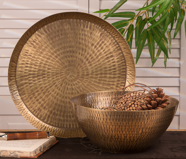 Best Dessau Home Antiqued Hammered Brass Rice Bowl Home Decor This Month