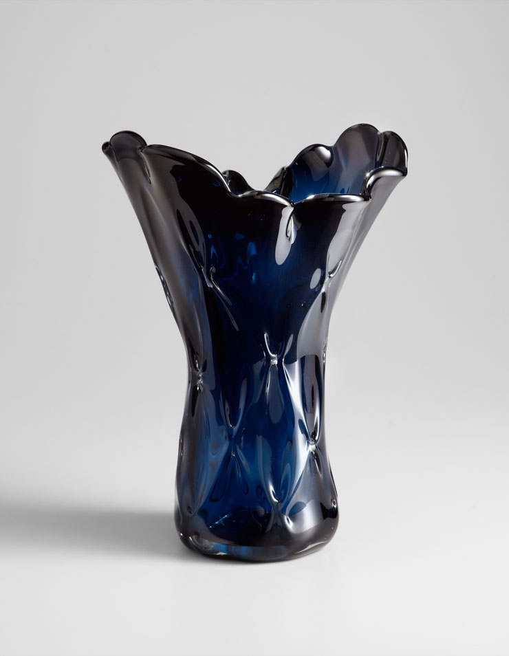 Best Small Bristol Blue Glass Vase By Cyan Design This Month