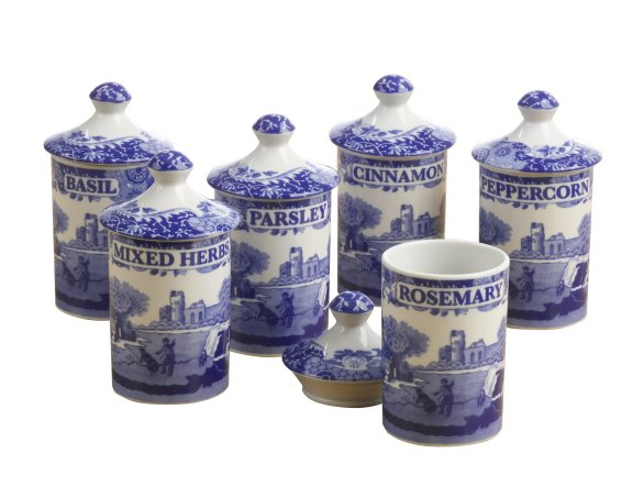 Best Spode Blue Italian Set Of 6 Spice Jars 62 4 You Save 33 60 This Month