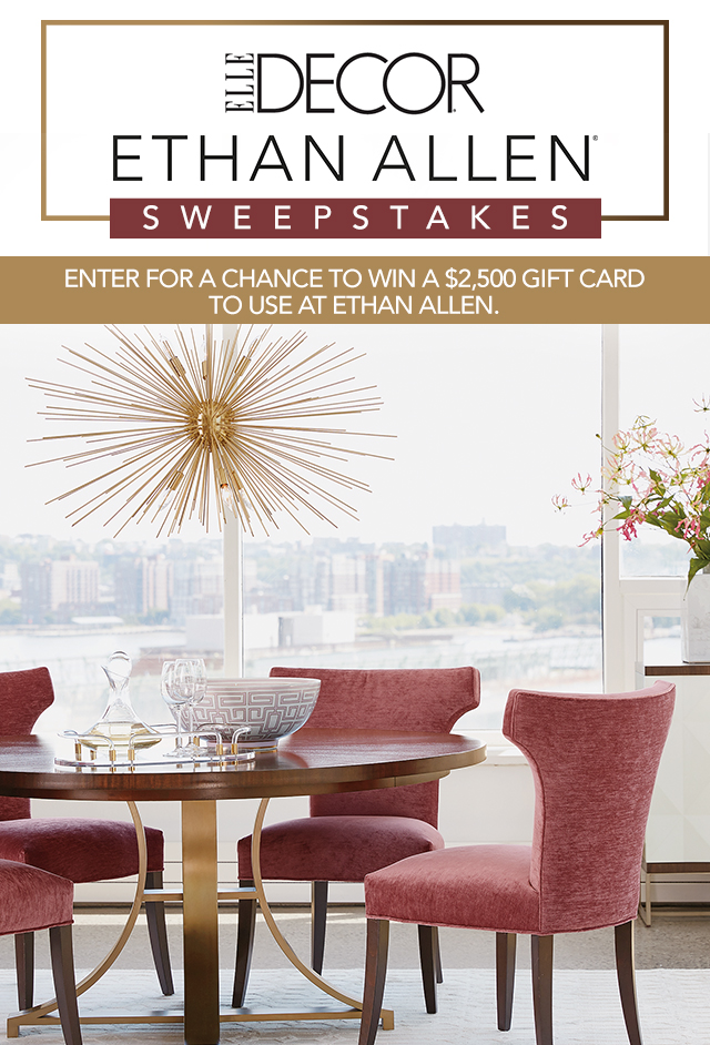 Best Elle Decor Ethan Allen Sweepstakes This Month