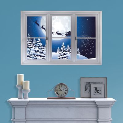 Best Santa Sleigh Instant Window Wall Decal Shop Fathead This Month