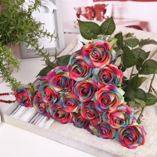 Best Rose Artificial Flowers Single Branch Fake Flower For Home This Month