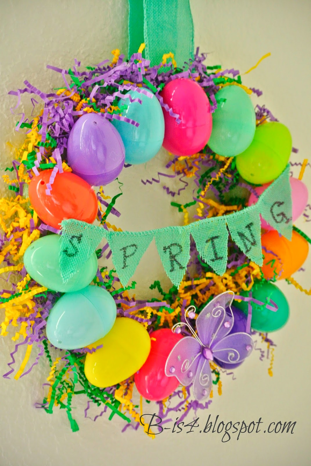 Best B Is 4 Diy Easter Egg Spring Wreath This Month