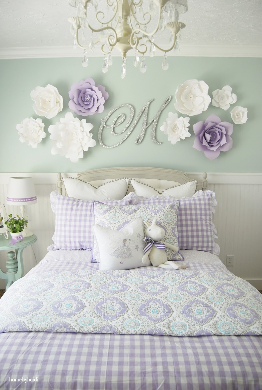 Best Home By Heidi Purple Turquoise Little Girls Room This Month
