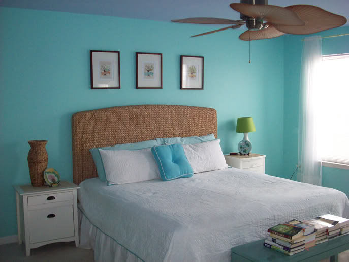 Best Color Changes Everything–Aqua Master Bedroom Makeover This Month