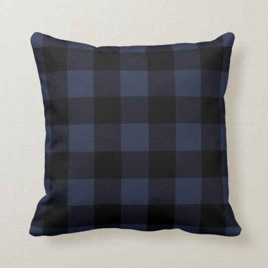 Best Black And Navy Preppy Buffalo Check Plaid Throw Pillow This Month