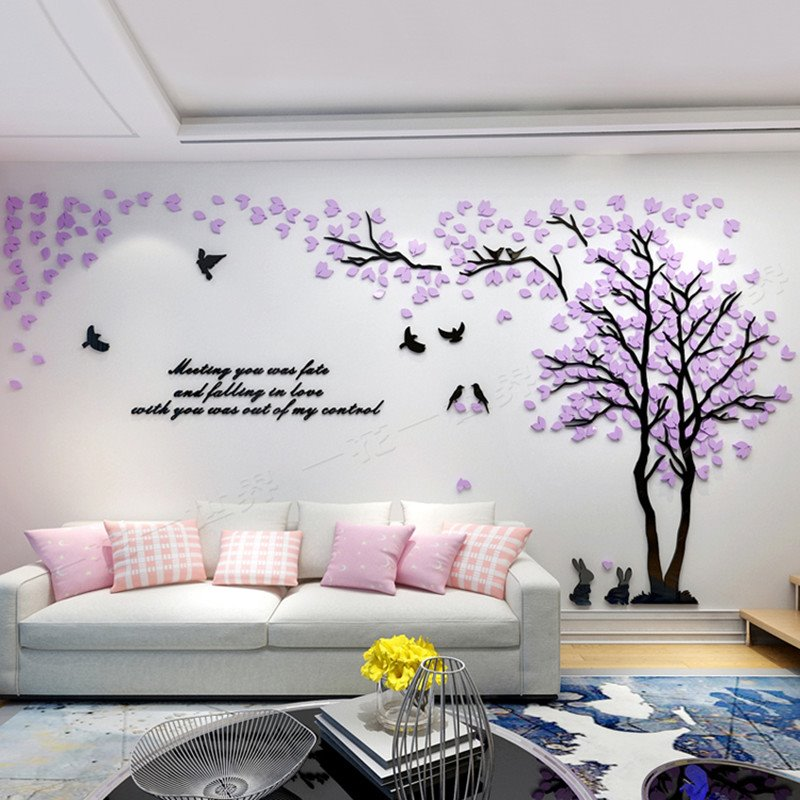 Best Trees And Birds Pattern Acrylic Eco Friendly Waterproof This Month