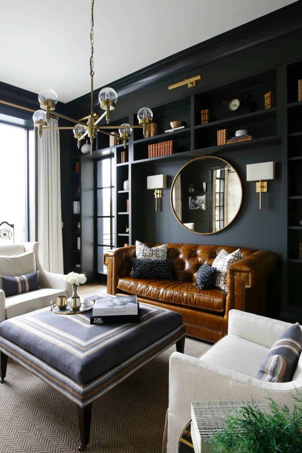 Best 28 Gorgeous Living Rooms With Black Walls That Create Cozy This Month