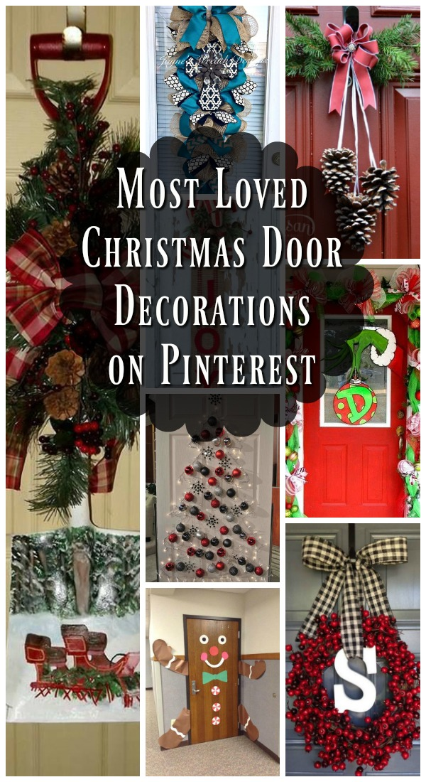 Best Most Loved Christmas Door Decorations Ideas On Pinterest This Month