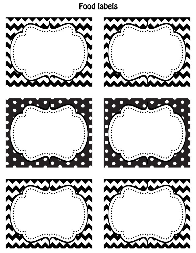 Best Free Black White Printable Labels Celebrations At Home This Month