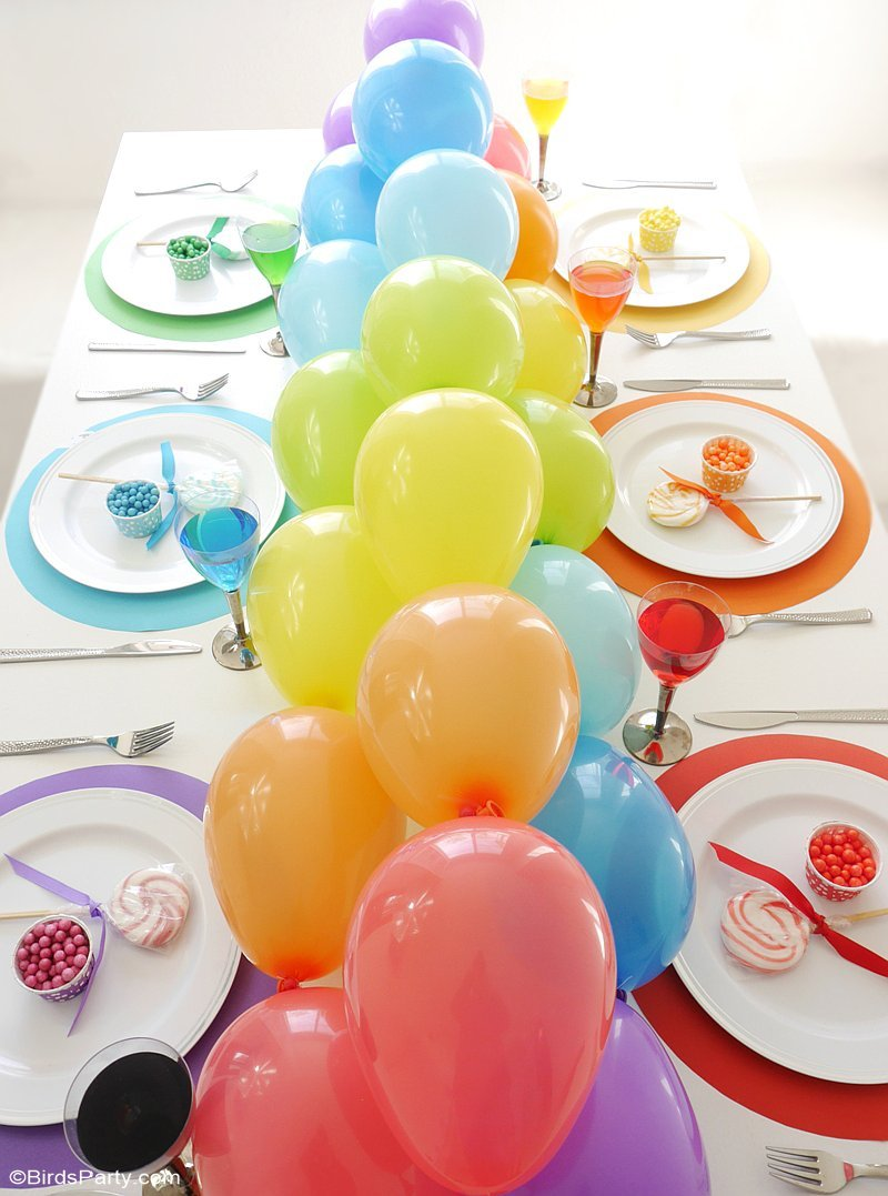 Best Rainbow Tablescape Diy Balloon Garland Party Ideas This Month