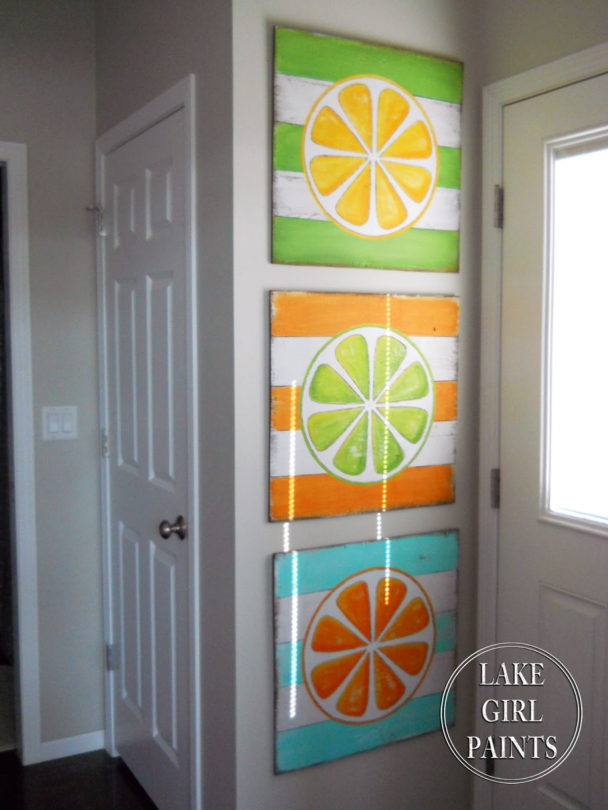 Best Lake Girl Paints Diy Wall Art Citrus Stripes This Month