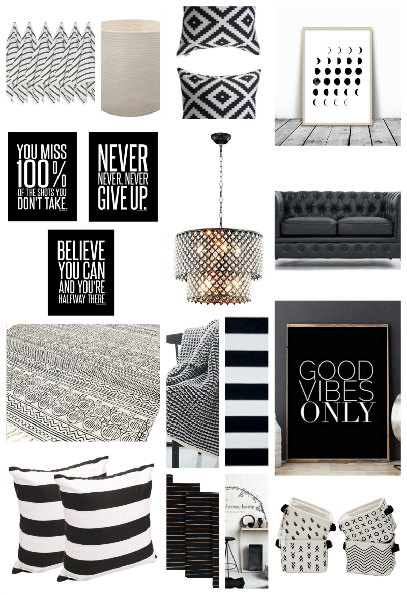 Best 22 Black And White Home Decor Pieces You Ll Love Thirty This Month