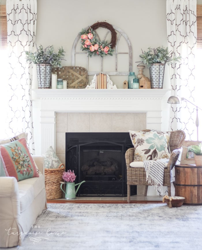 Best How To Decorate Your Mantel For Spring The Turquoise Home This Month