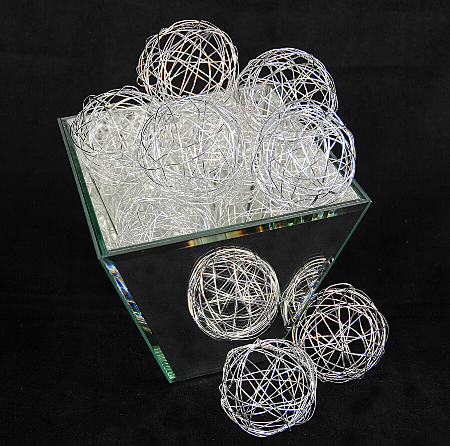 Best 12 Silver Wire Decorative B*Lls 2 5In Set Of 12 This Month