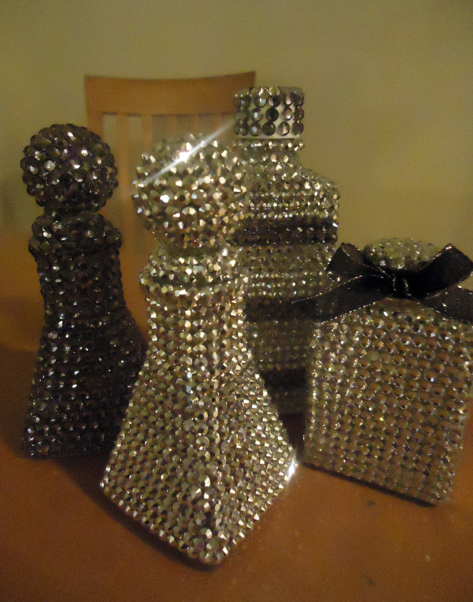 Best Diy Home Décor Make Gorgeous Rhinestone Covered Bottles This Month
