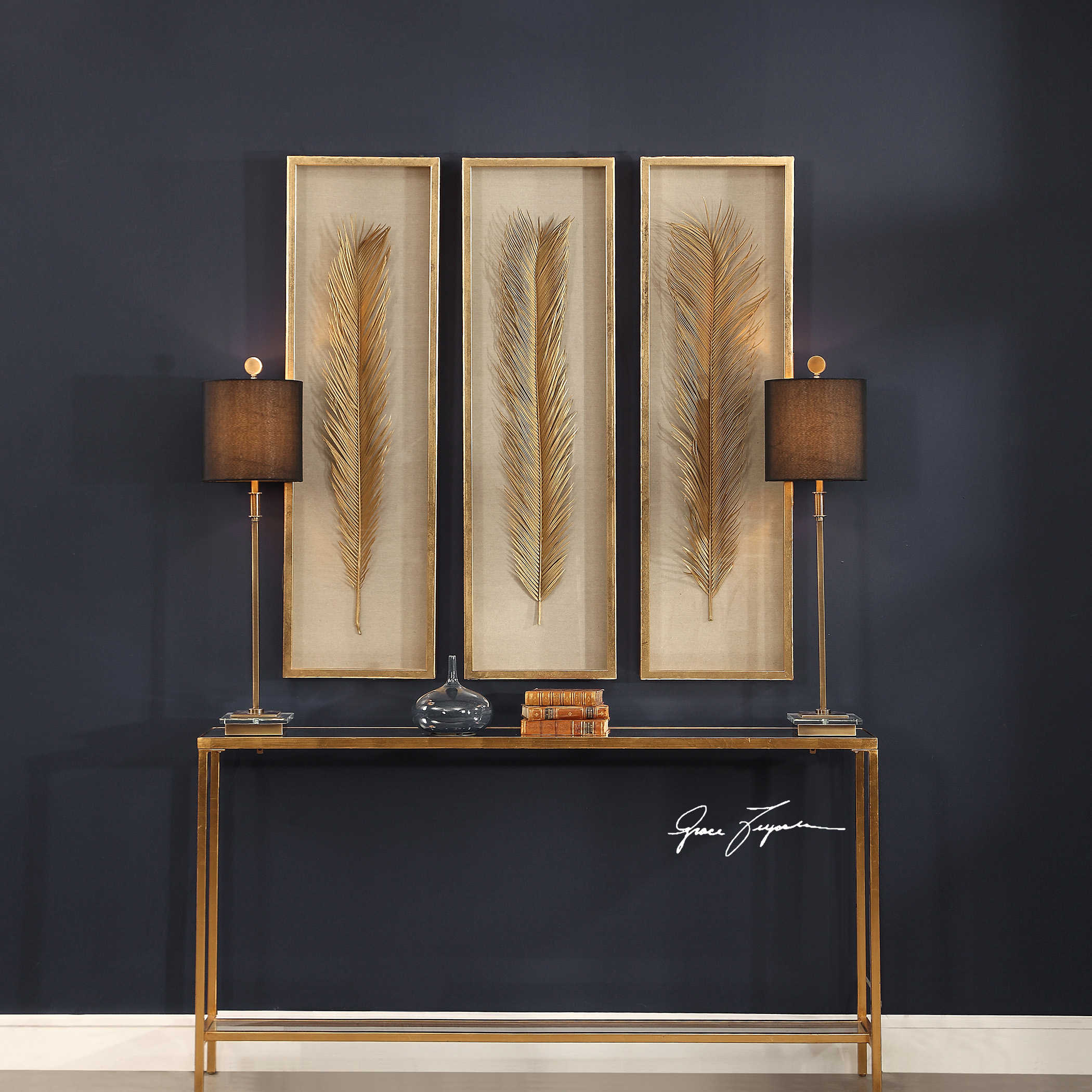 Best Uttermost Palma Gold Leaf Shadow Box Set 3 This Month