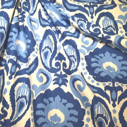 Best Ikat Grand In Blue Home Decor Fabric Fabric Traders This Month
