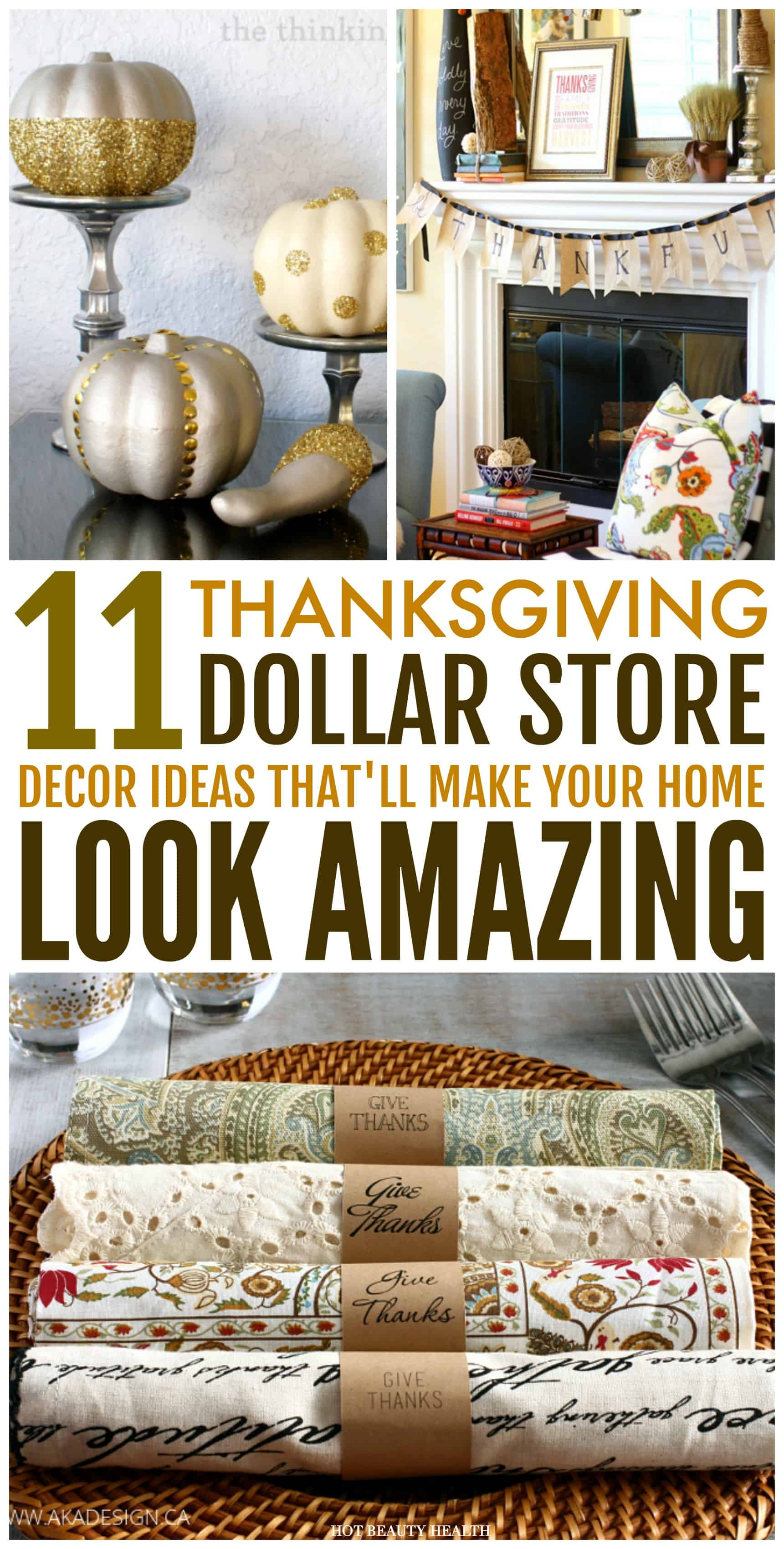 Best 11 Dollar Store Thanksgiving Decor Ideas That Are Super This Month