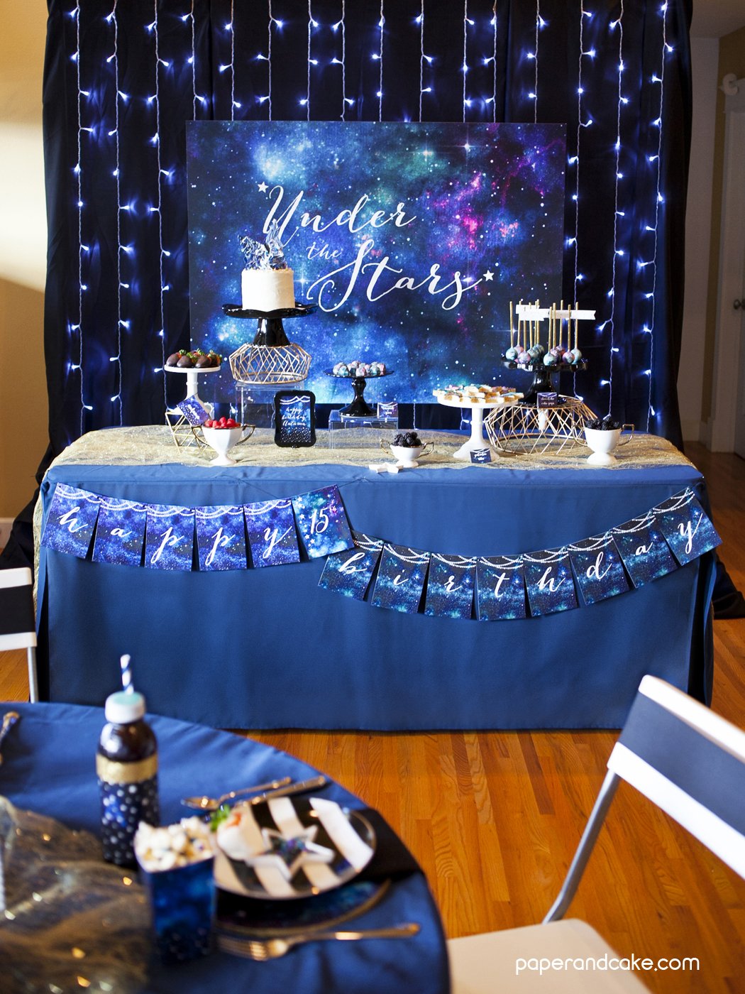 Best Under The Stars 15Th Birthday Party Paper And Cake Paper This Month