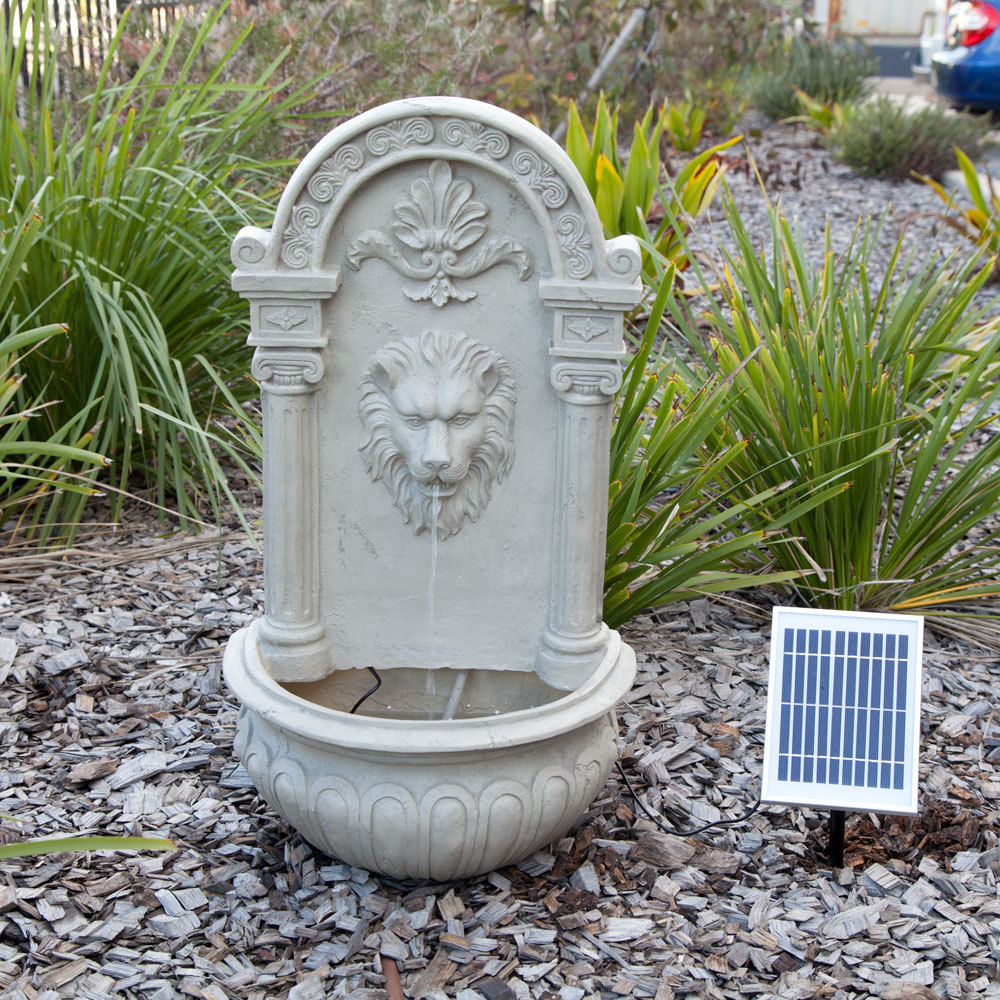 Best Solar Decorative Lion Wall Water Fountain Feature This Month
