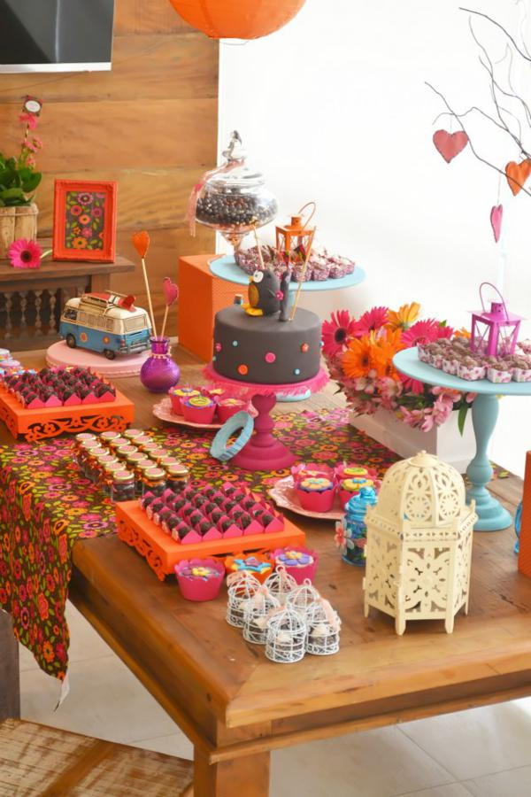 Best Kara S Party Ideas Hippie Owl 60 S Girl Themed Birthday This Month