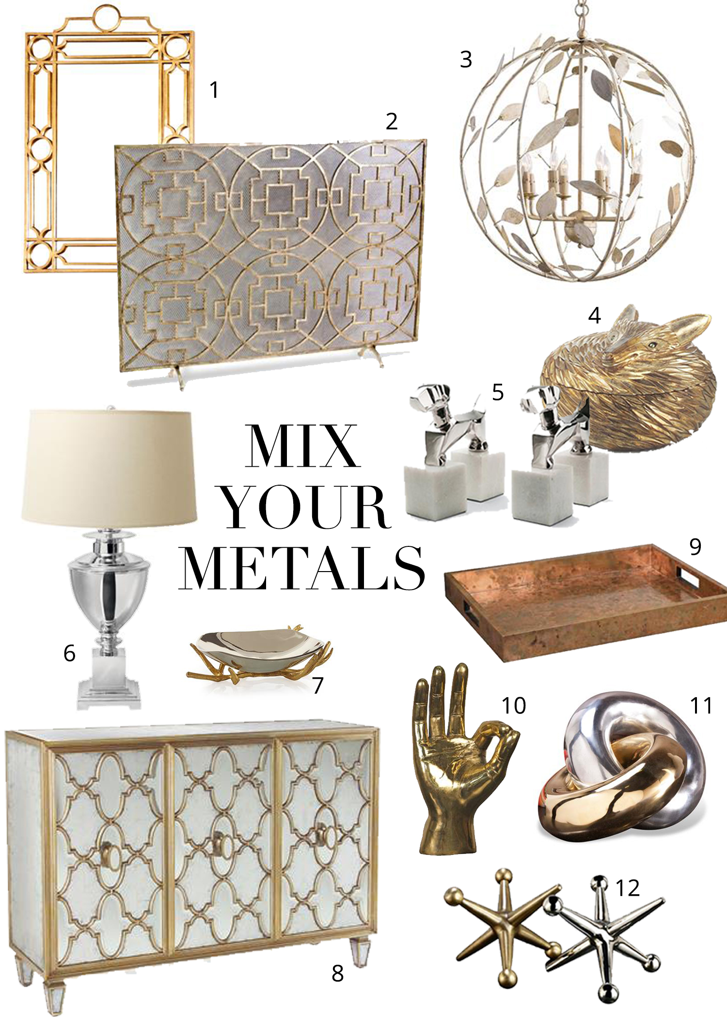 Best Mixing Metals The Do S And Don Ts Kathy Kuo Blog Kathy Kuo Home This Month