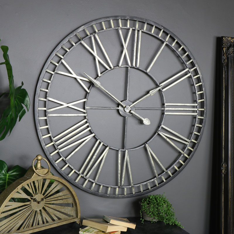 Best Extra Large Rustic Gold Skeleton Wall Clock Windsor Browne This Month