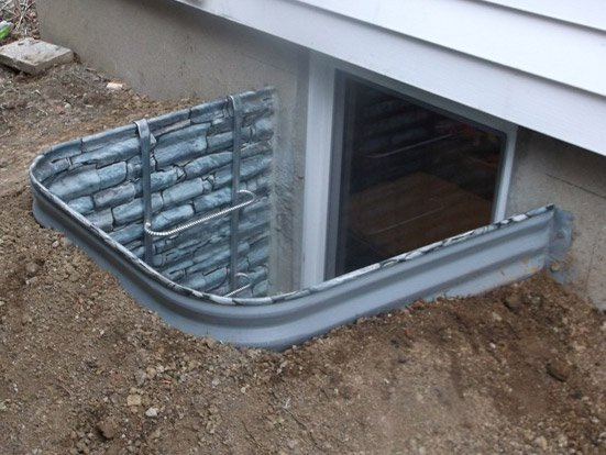 Best Stone Wall Window Well Faux Stone Egress Well Free This Month