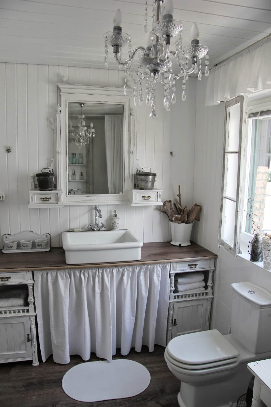 Best 15 Lovely Shabby Chic Bathroom Decor Ideas Style Motivation This Month