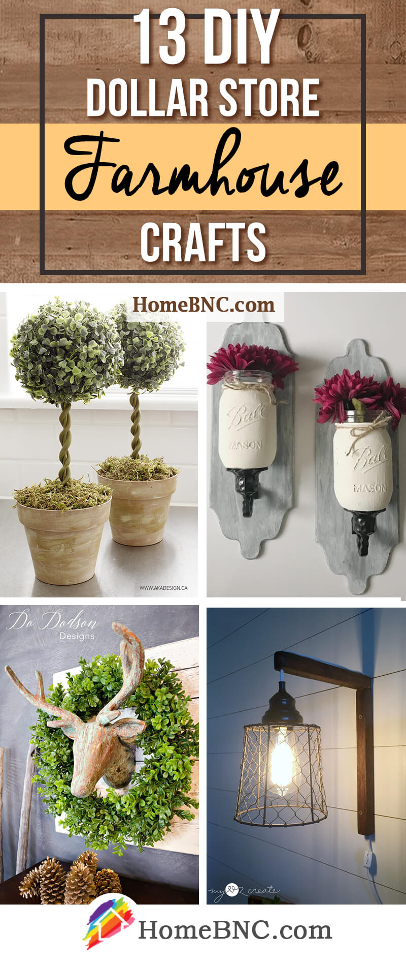 Best 13 Best Diy Dollar Store Farmhouse Decor Ideas And Designs This Month