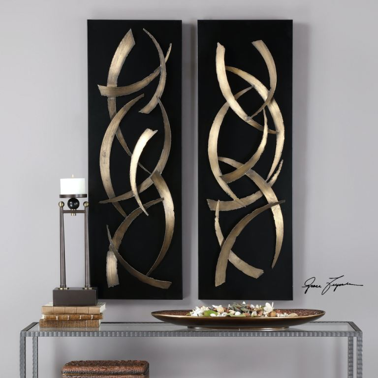 Best Uttermost Accessories Brushstrokes Metal Wall Art S 2 This Month