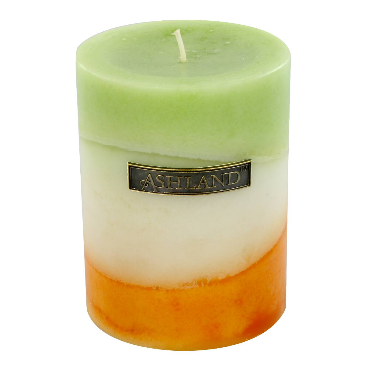 Best Find The 3 X 4 G*Ng*R Citrus Zig Zag Pillar Candle By This Month