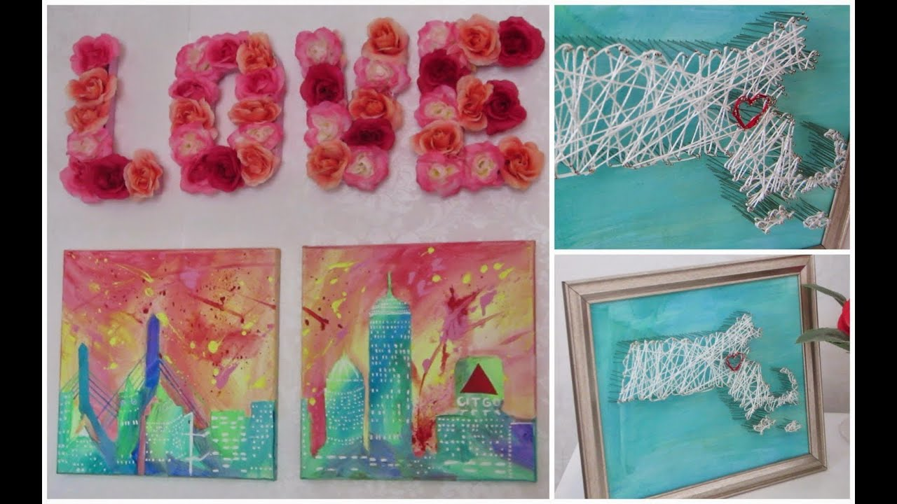 Best Diy Room Decor Wall Artwork Fun Easy To Create Youtube This Month