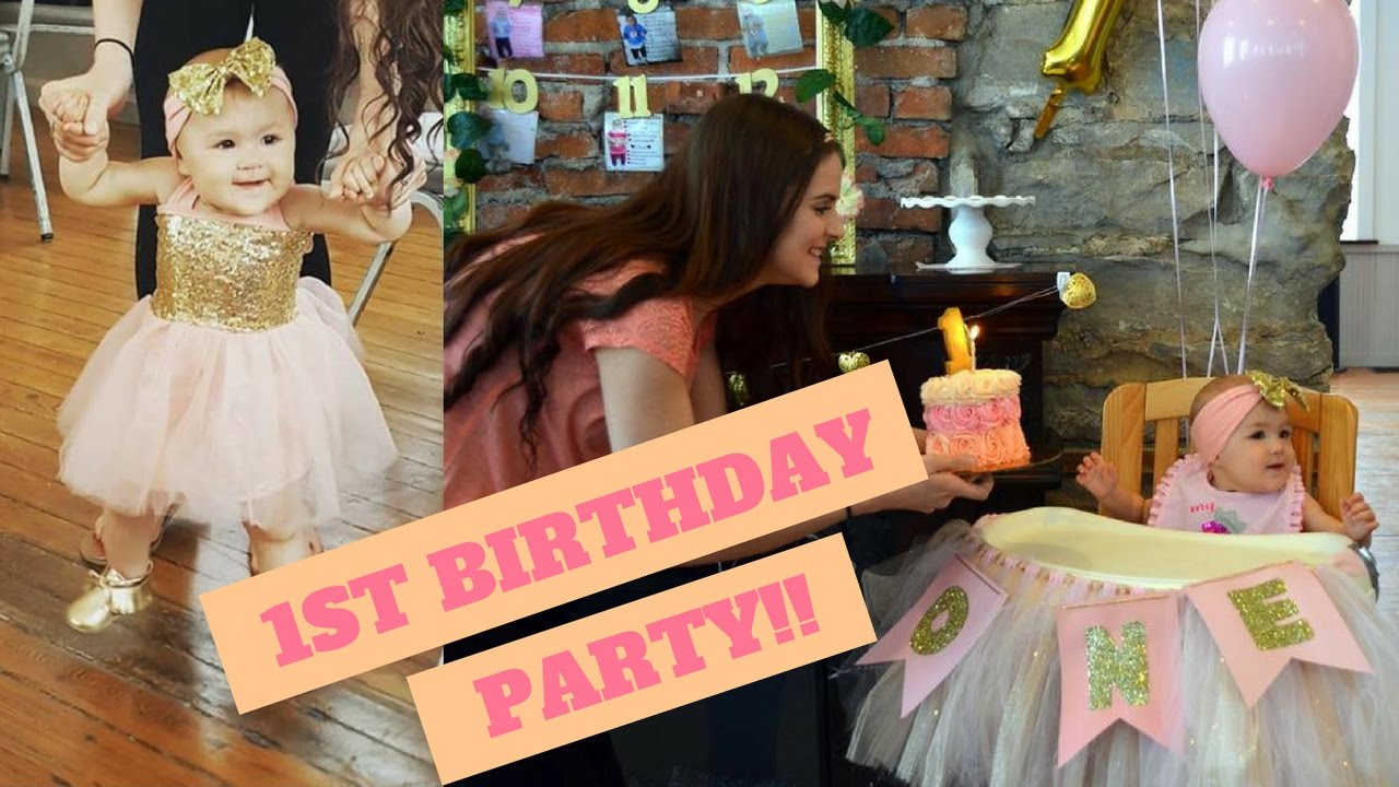 Best Baby S 1St Birthday Party Youtube This Month
