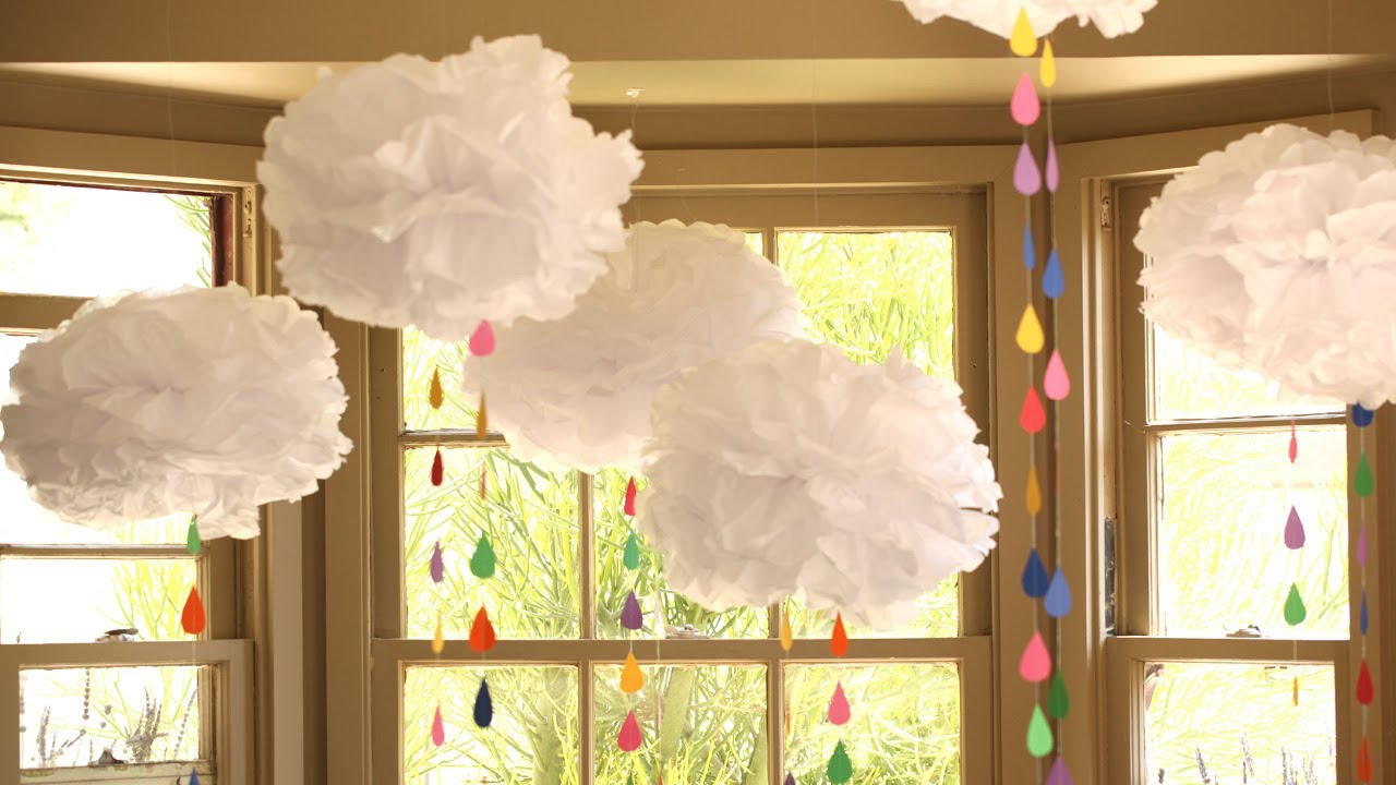 Best How To Make Tissue Paper Clouds Youtube This Month