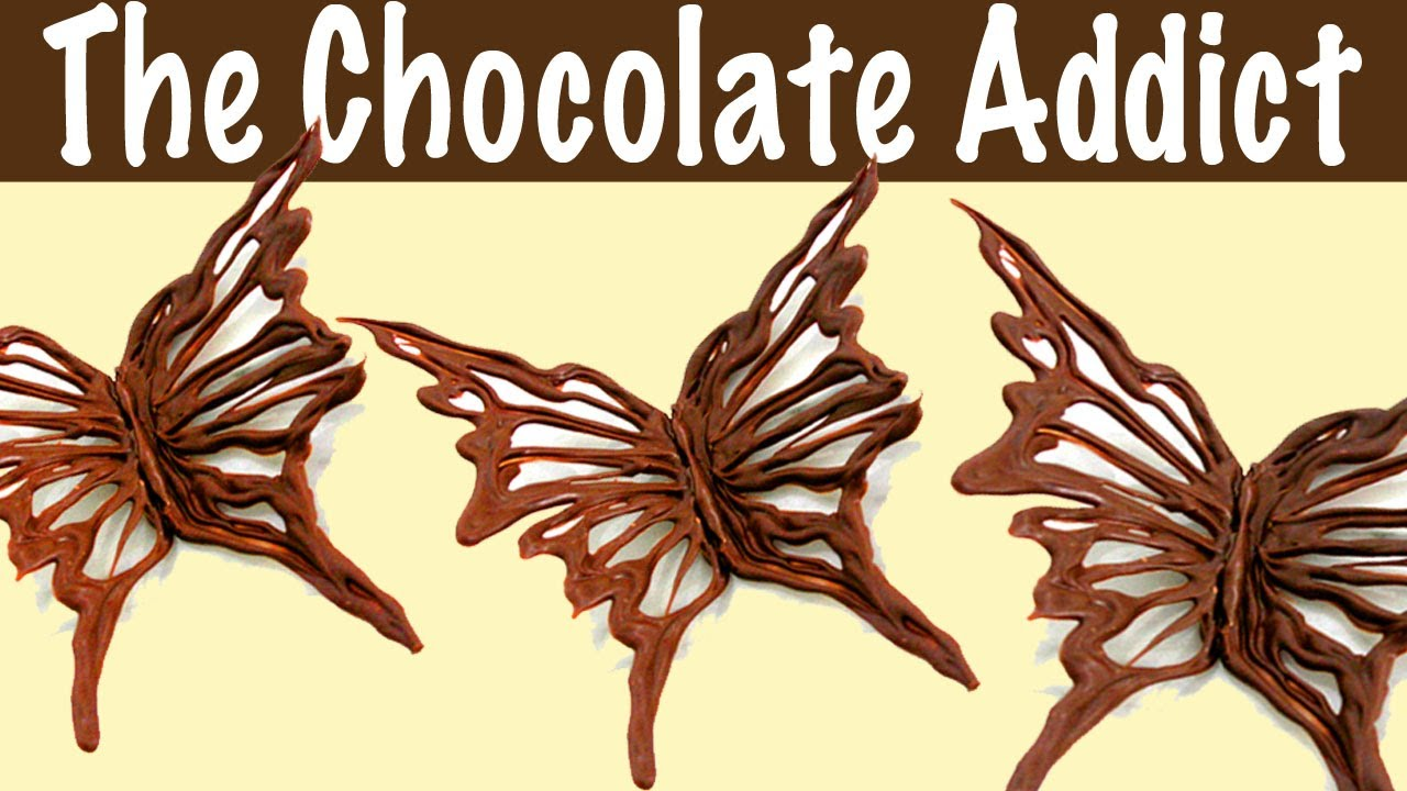 Best Chocolate Decorations How To Make A Chocolate Butterfly This Month