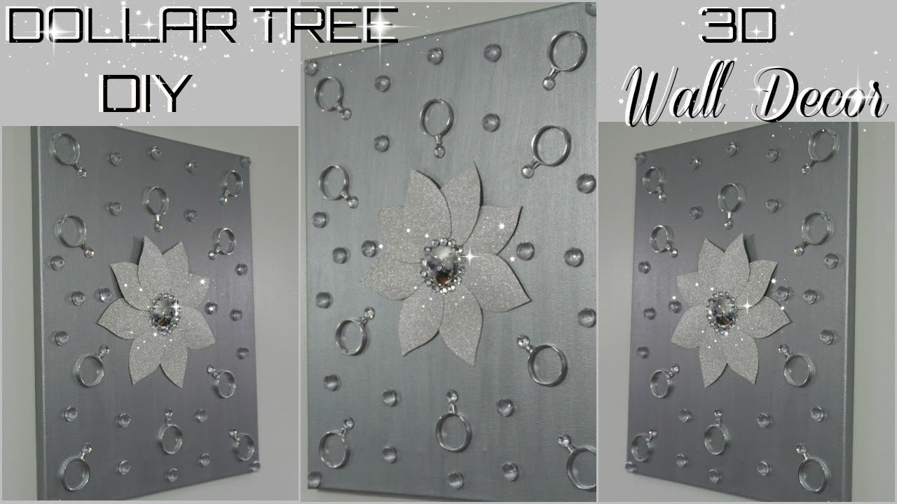 Best Diy Quick And Easy Glam Wall Decor Diy Dollar Tree 3D This Month